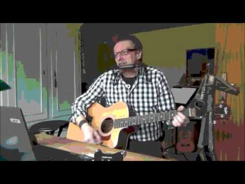 Rolling Stones - The Last Time - Acoustic Guitar Unplugged Cover with BluesHarp (Rare)