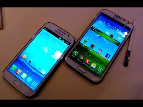 Samsung Galaxy Grand Vs Galaxy Note 2 Comparison Video- Features, Software and Hardware Compared