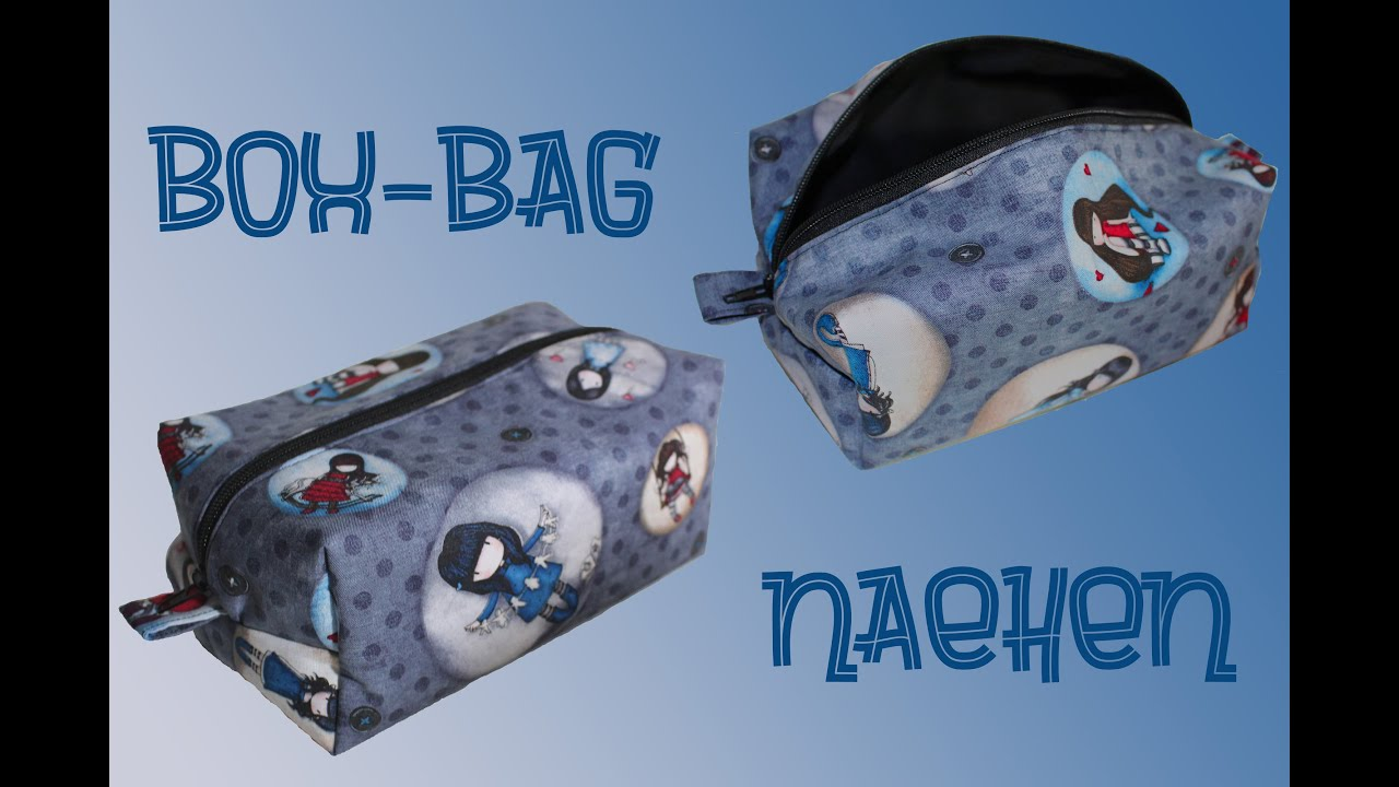 Box-Bag nähen - Reißverschlusstasche für Kosmetika o. ä. Krimskrams ...