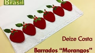 Barrados Morango com Virada de Agulha.