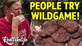 People Try Wild Game For The First Time! Video