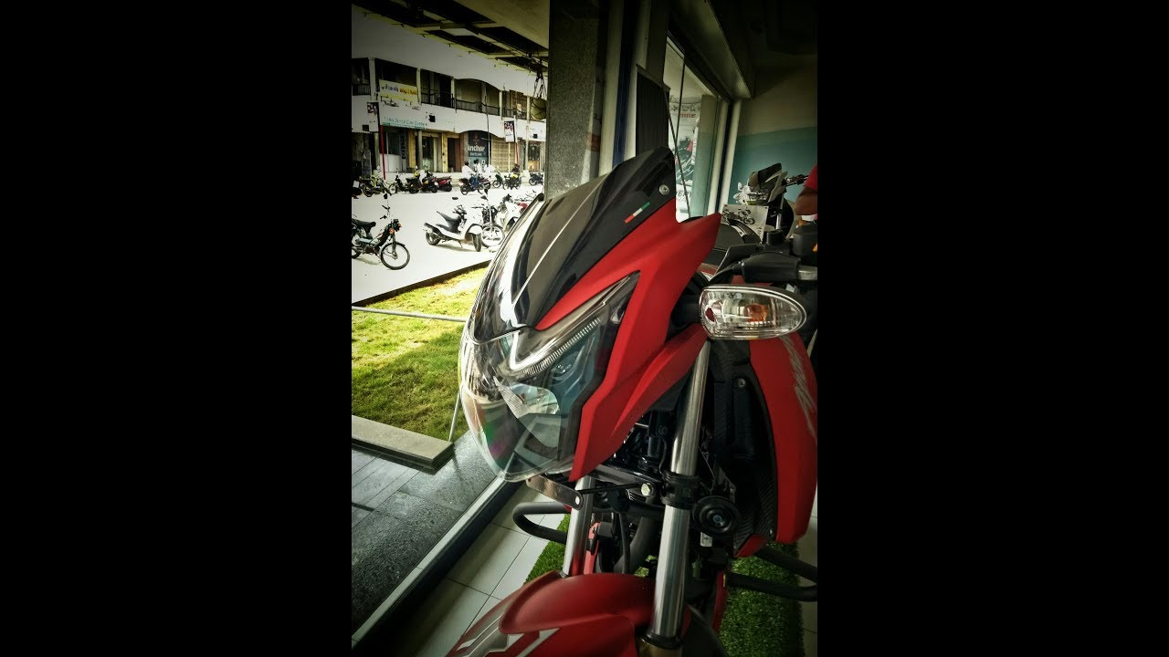 tvs apache rtr 180 matte red color bs4 detail walkround hd youtube