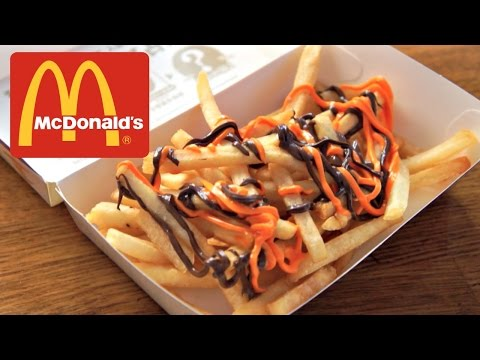 McDonald's Japan Halloween Choco Potato - chocolate drizzled french fries