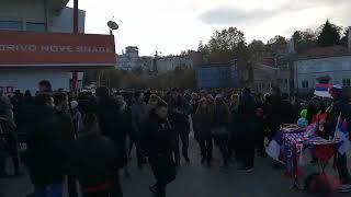 Atmosfera pred meč Srbije i Crne Gore