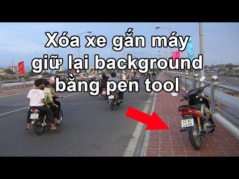 Photoshop CS6: Xóa đối tượng tạo background dùng pen tool.