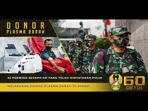 32 Perwira Lulusan Secapa-AD yang Dinyatakan Pulih Covid-19, Melakukan Donor Plasma Darah di RSPAD