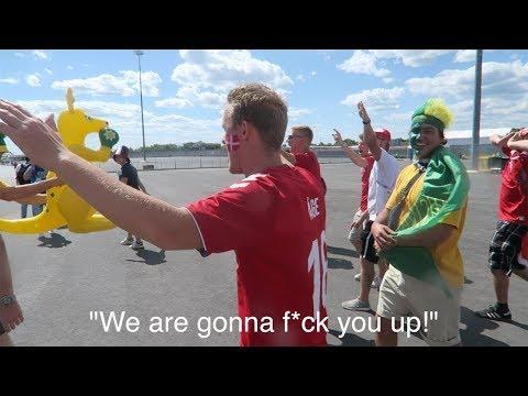 "Denmark fans: ""We Are Gonna F**k You Up!"" - DENMARK FANS VS AUSTRALIA FANS (Socceroos)"