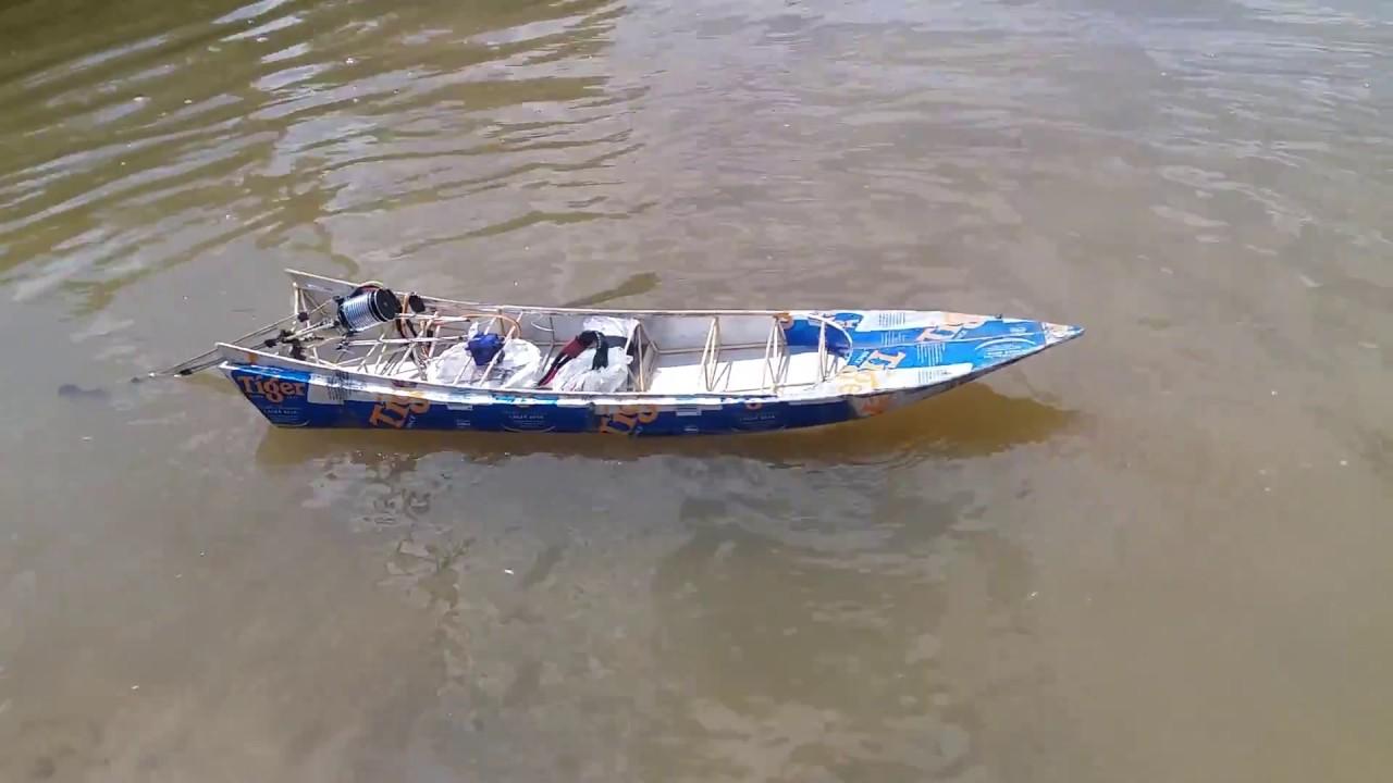 Cách làm mô hình vỏ lon tàu đua kiểu Thailand | Thailong'tail boat rc