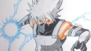 Como dibujar a Kakashi anbu. How to draw Kakashi Anbu. Drawing Kakashi Ambu