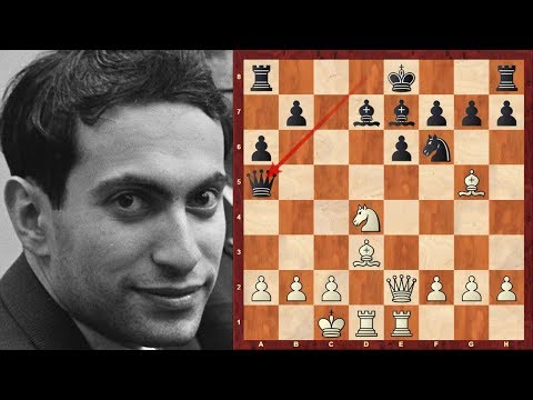 Mikhail Tal with the White pieces at the 1962 Varna Olympiad Magician! (Chessworld.net)