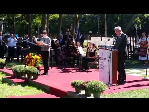 Tesla Long Island Lab   Monument dedication speech of HE President of Serbia Toma Nikolic Sept 23 20