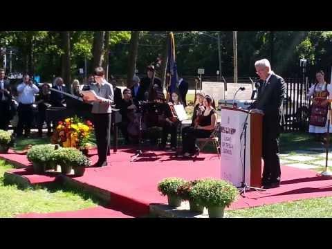 Tesla Long Island Lab   Monument dedication speech of HE President of Serbia Toma Nikolic Sept 23 20