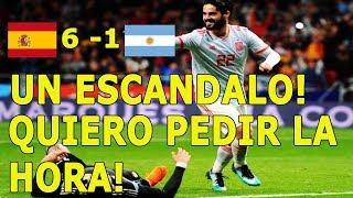 Relator argentino enojado Walter Nelson: España 6 - 1 Argentina