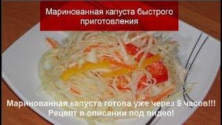 Маринованная капуста быстрого приготовления.Салат из капусты//Быстро,Просто и Очень Вкусно!!!