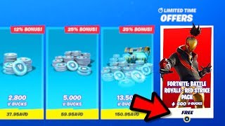 "The FREE ""RED STRIKE"" STARTER PACK 8 in Fortnite! FREE ITEMS - New SEASON X Starter Pack!"