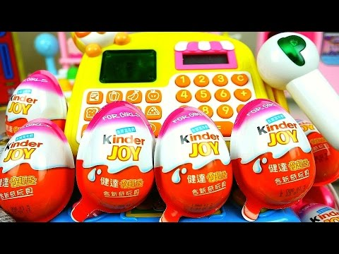 Thumbnail: Surprise eggs Mart register Kinder Joy and Play Doh detal clinic toys play
