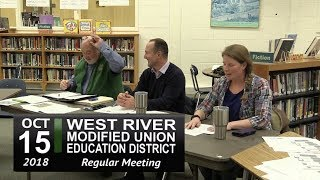 WRMUED School Board Mtg 10/15/18
