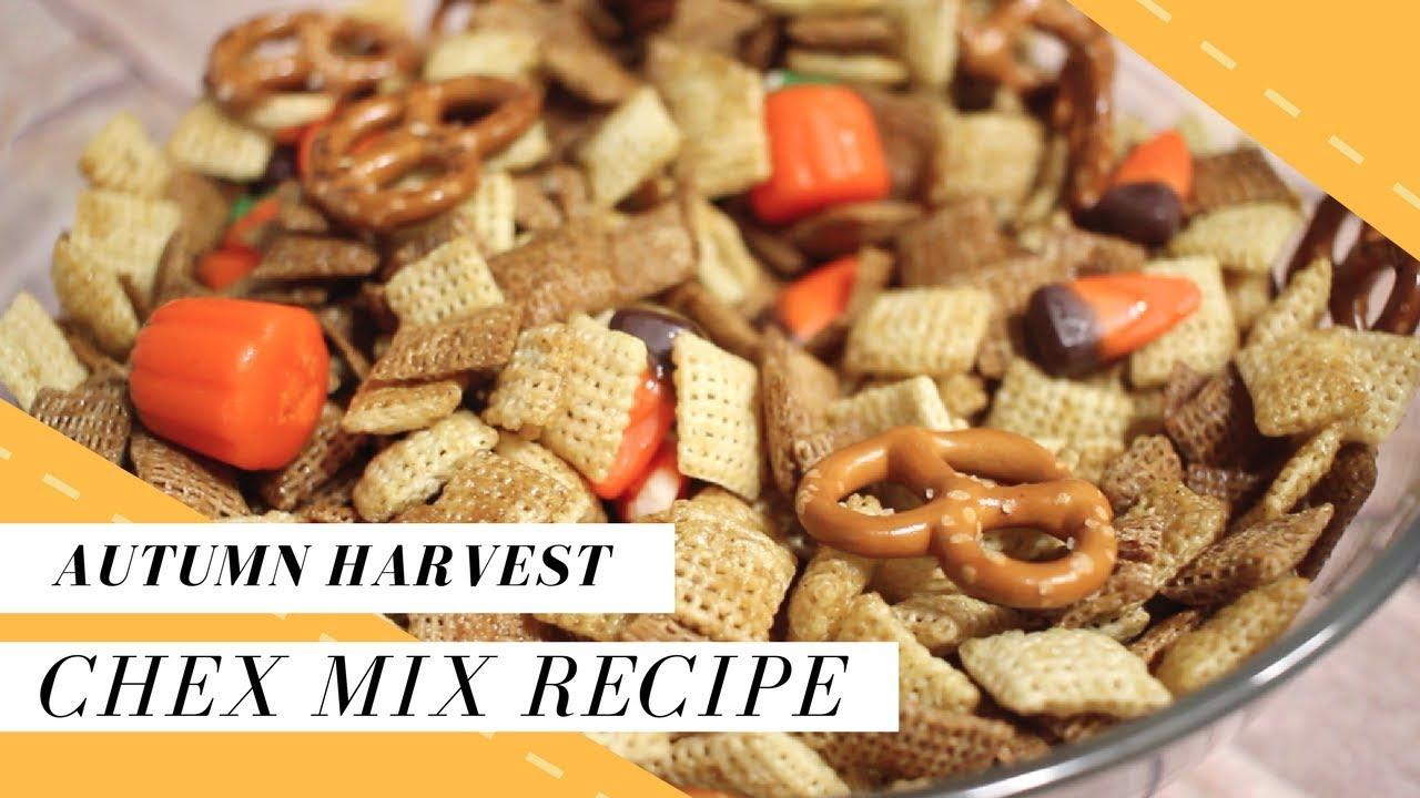 Easy Harvest Chex Mix Recipe Halloween Treats For Kids