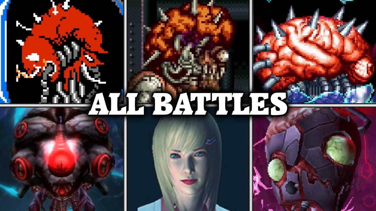Evolution of Brain Battles in Metroid games (1986 - 2017)