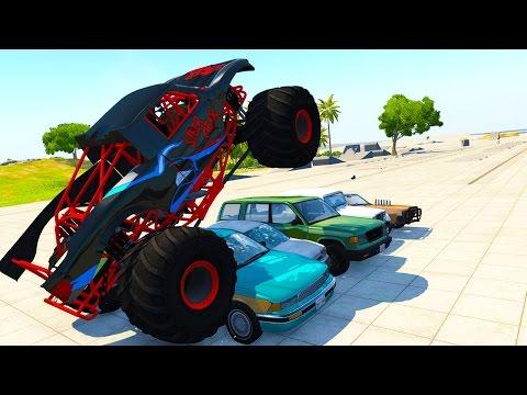 MONSTER TRUCK MADNESS! - BeamNG Drive CRD Monster Truck UPDATE