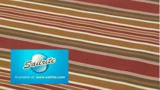 Video Of Sunbrella Eastland Redwood Awning Stripe Fabric 4813-0000