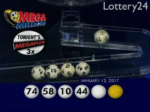 2017 01 13 Mega Millions Numbers and draw results