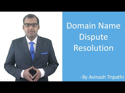 Lecture on Domain Name Dispute Resolution