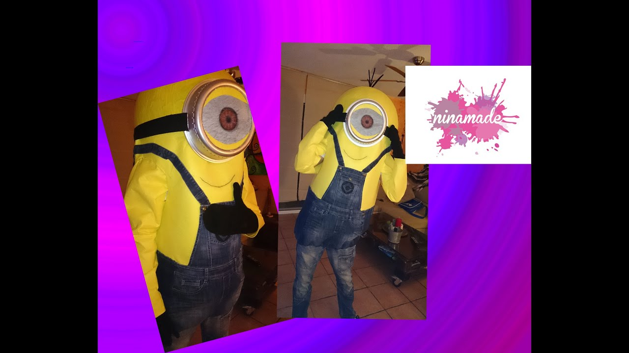 diy comment faire un d guisement de minion how to make a minion costume youtube. Black Bedroom Furniture Sets. Home Design Ideas