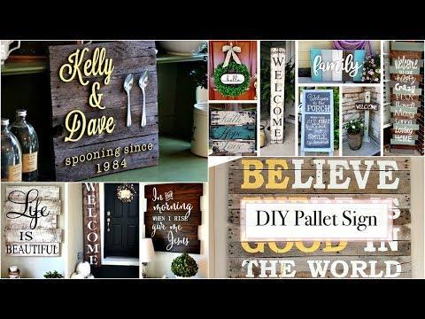DIY Pallet Sign Tutorial | 40 DIY Pallet Sign Ideas  - Creative DIYs