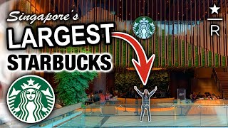 We Visit the LARGEST Starbucks in Singapore ☕??