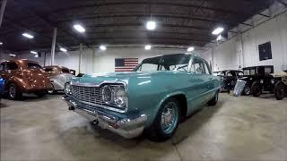 1964 blue chevrolet biscayne