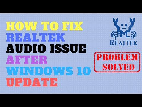 How to Fix Realtek Audio Issue After Windows 10 Update - YouTube