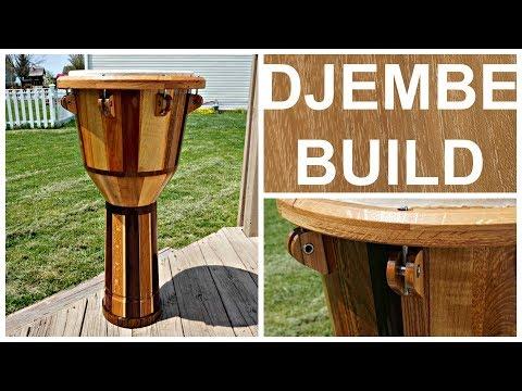 DJEMBE BUILD w/ SIMPLE TOOLS & SCRAP WOOD, Part 3
