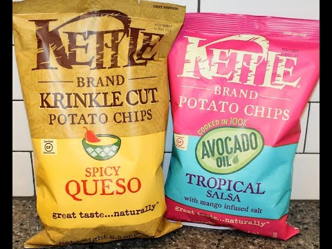 Kettle Brand Potato Chips: Spicy Queso and Tropical Salsa Review