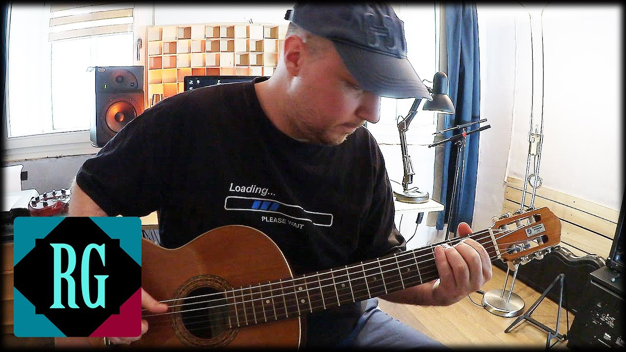 EASY & beautiful fingerstyle guitar song for Pre-Intermediate players with  TABS
