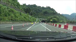 ドライブ撮影 雨 東名高速道路下り 静岡IC~日本坂PA付近