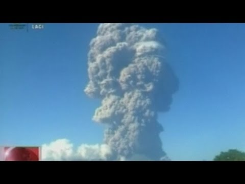 Indonesian volcano erupts: Mount Sangiang spews ash into the air, cancelling flights