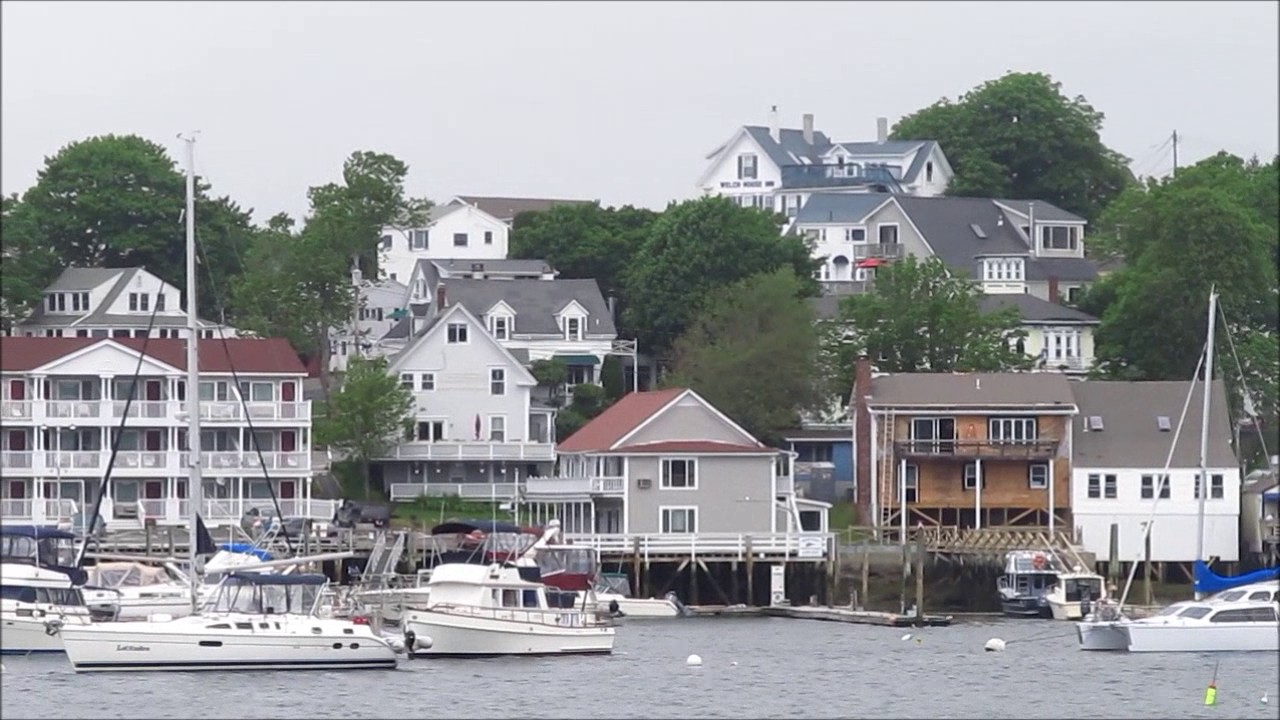 Boothbay harbor waterfront views youtube for Cap n fish s waterfront inn
