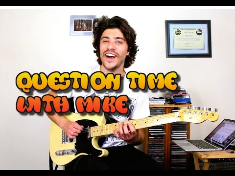 Question Time With Mike -  Making a living as a Session Musician, Hitting a wall with your playing