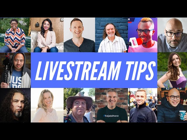 BEST Live Streaming Tips for ENTREPRENEURS from 14 Experts!