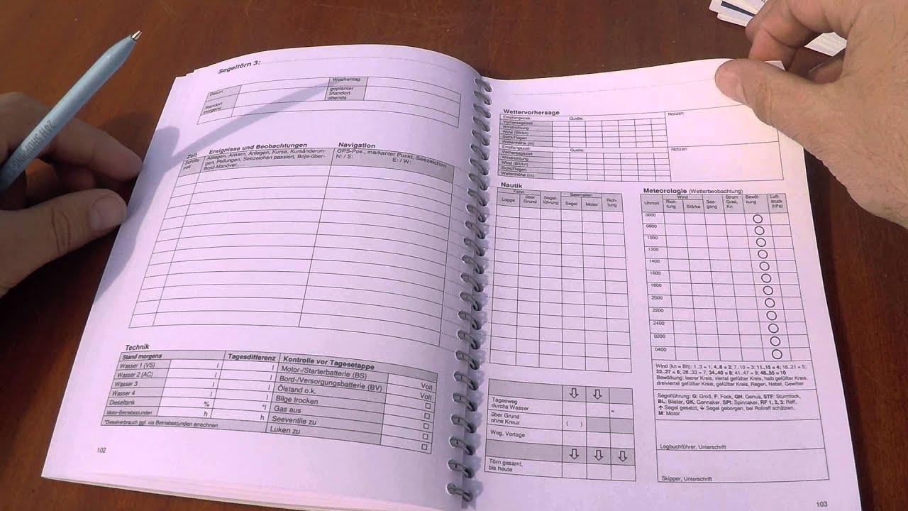 3/3 Charter-Logbuch - erklärt: Logbuchseiten, Yachtrückgabe   www ...