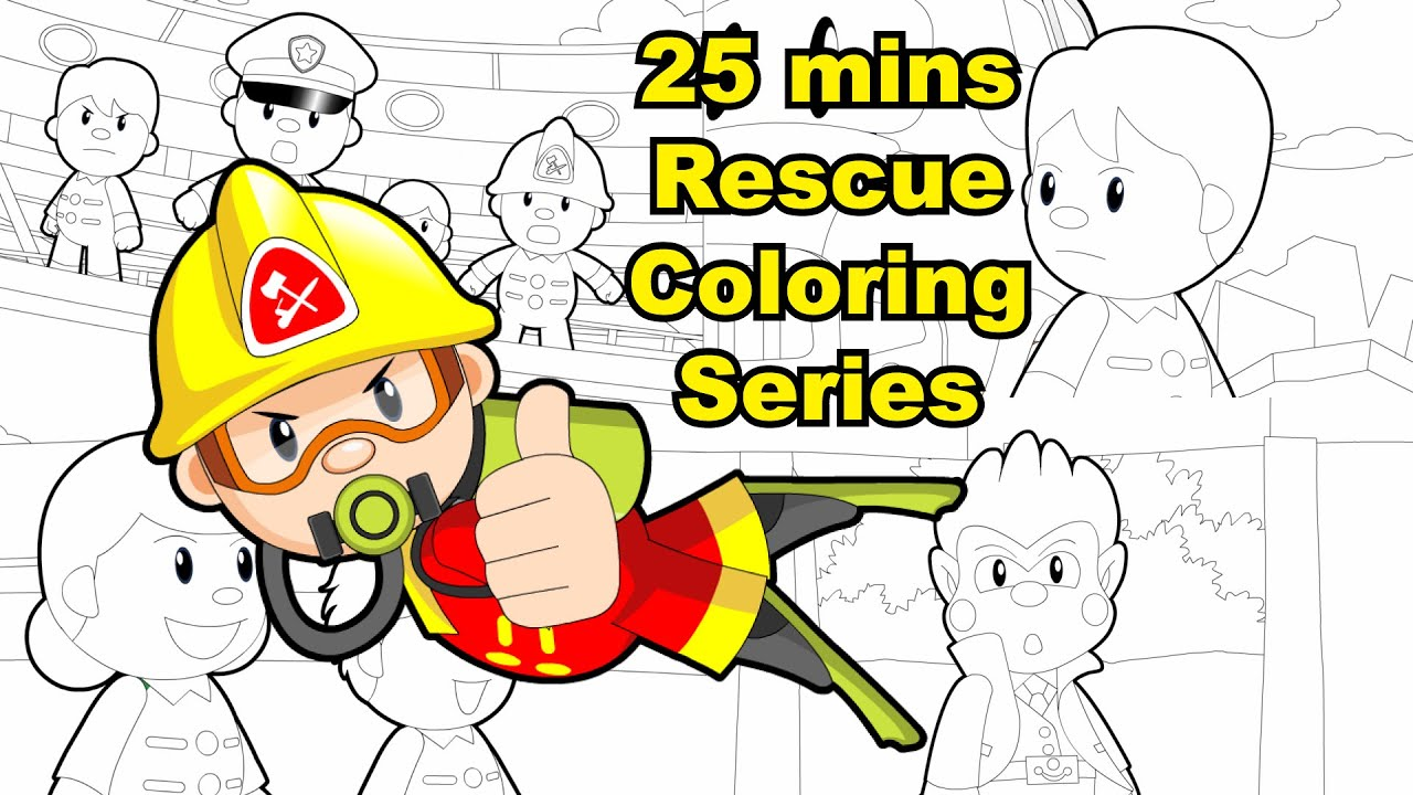 "25 mins ""Rescue"" Coloring Series"