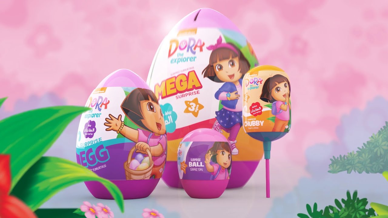 حلوى المستكشفة دورا متوفرة الآن مع ألعاب هدية داخلها.. جربها من #sweetbox