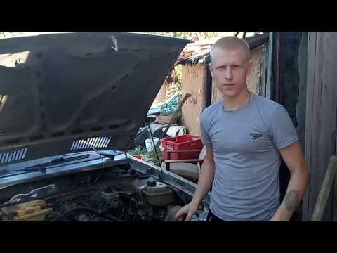Как натянуть ремень гидроусилителя на ауди 80