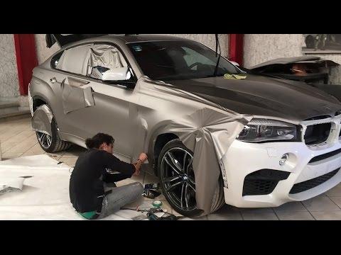 Wrapping X6 M Bmw Gray Matte Metallic Youtube