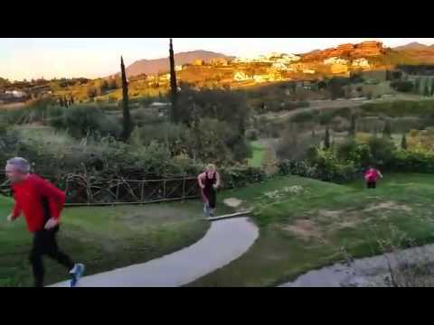 Our Bootcamp Abroad team working out in a beautiful setting