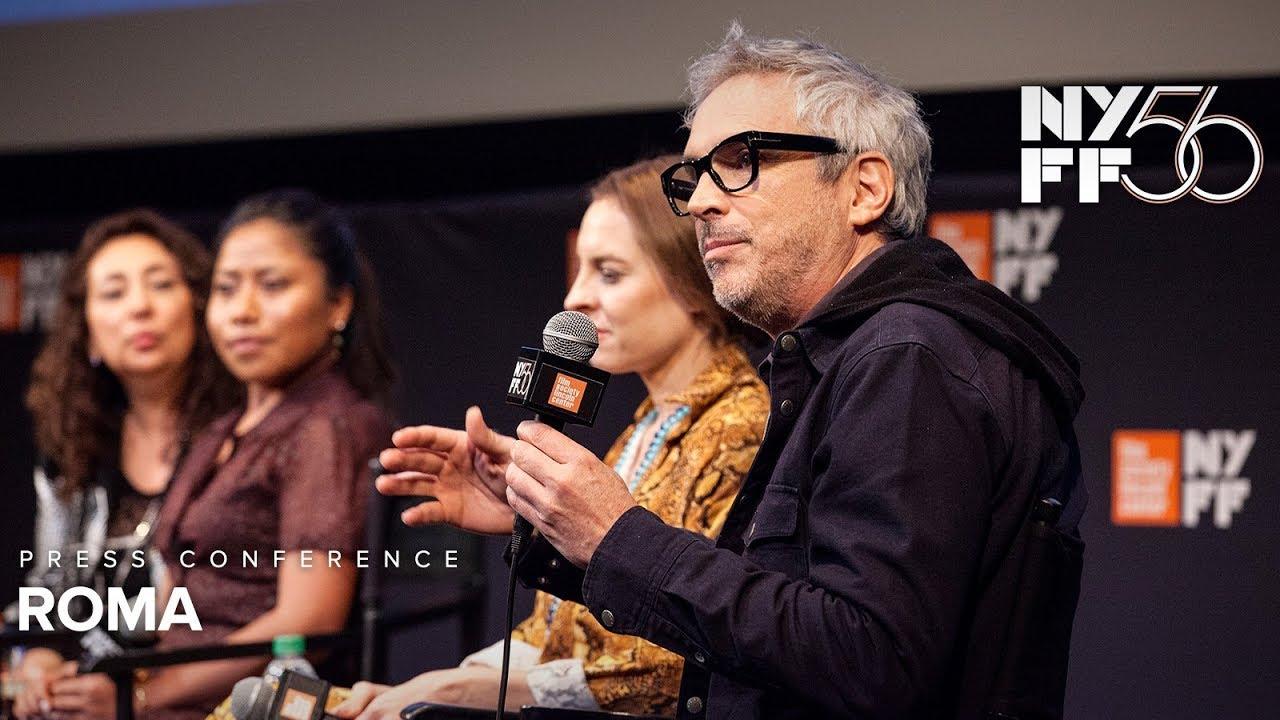 Ver 'ROMA' Press Conference | Alfonso Cuarón, Yalitza Aparicio & Marina de Tavira | NYFF56 en Español