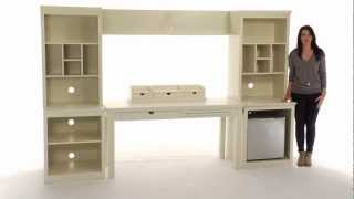 Choose This Desk With Storage Set For A Comprehensive Storage Solution | Pbteen