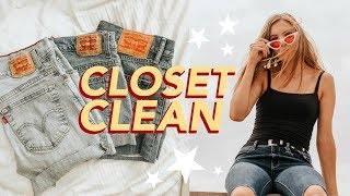 Clean Out My Closet with Me!! + CLOSET TOUR