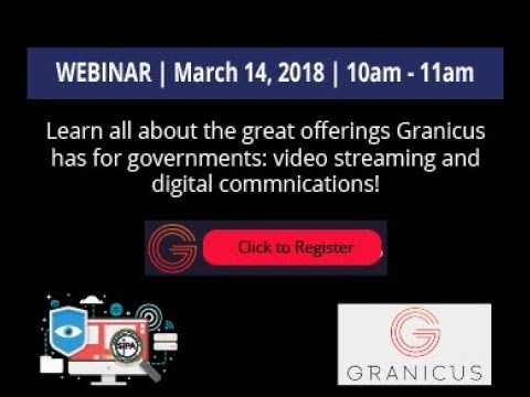 Webinar: Granicus Digital Communications & Video Streaming